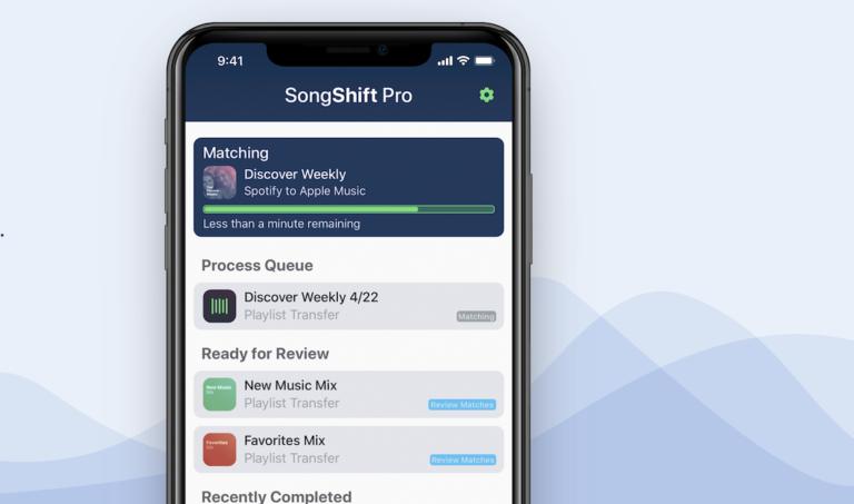 לעבור בין שרותי מוזיקה עם אפליקצית Songshift